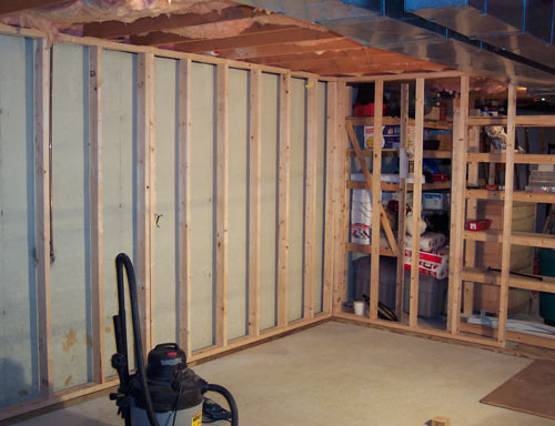 How To Frame A Basement Wall framed_wall_3