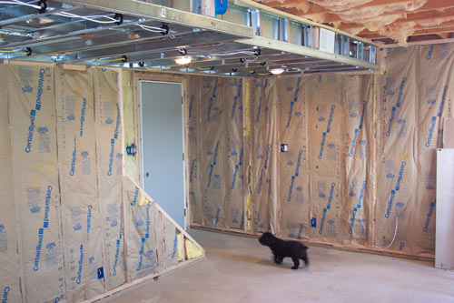 framing a basement ceiling for drywall rooms